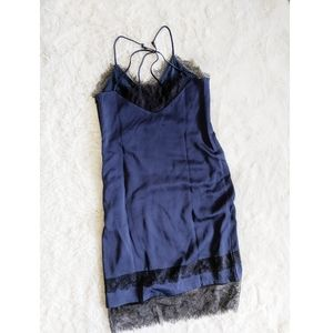 Nordstrom | lace slip camisole dress navy NWOT*